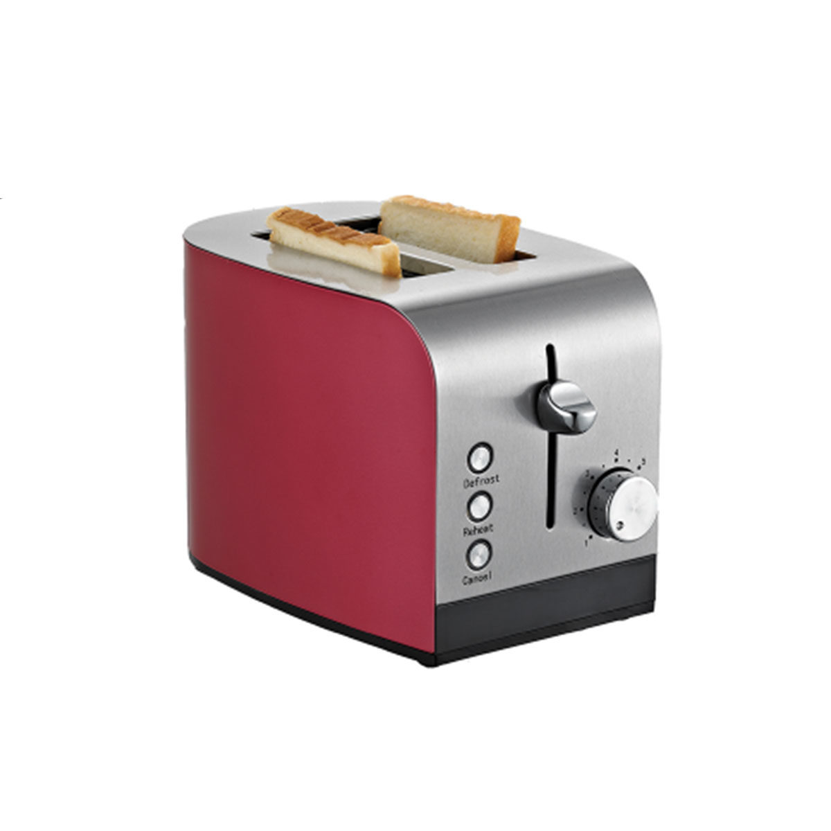 Red Stainless Steel Toaster