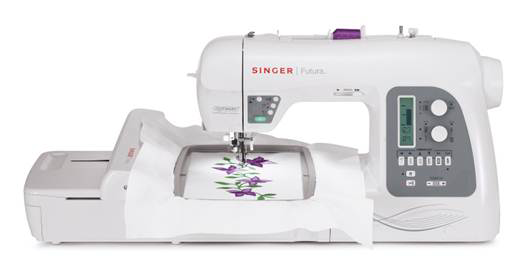 Singer Futura XL550 with Embroidery Hoop