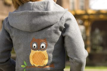 Hoodie with Owl Applique