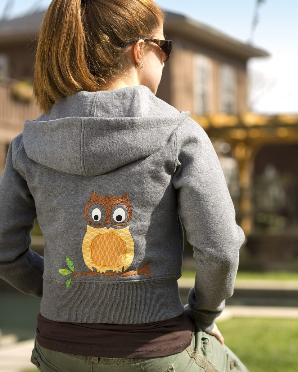 Singer Embroidered Owl Sweatshirt Project