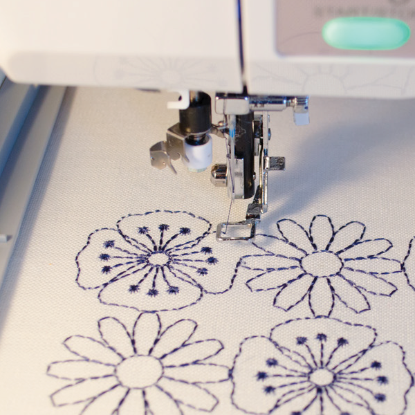 Machine Embroidery with a Pogo Foot