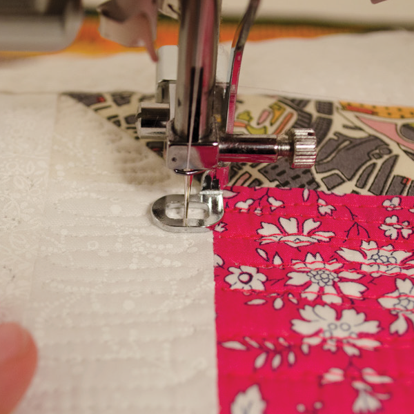 Free-motion quilting with a Pogo Foot