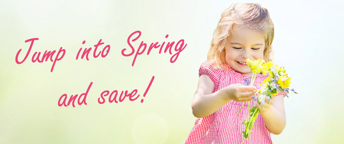 Jump into spring and save