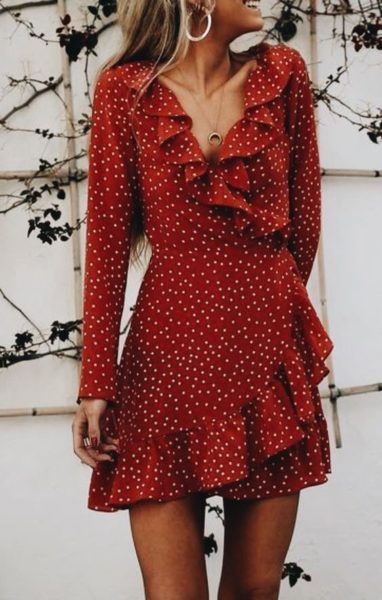 Faux wrap Dress Image 11