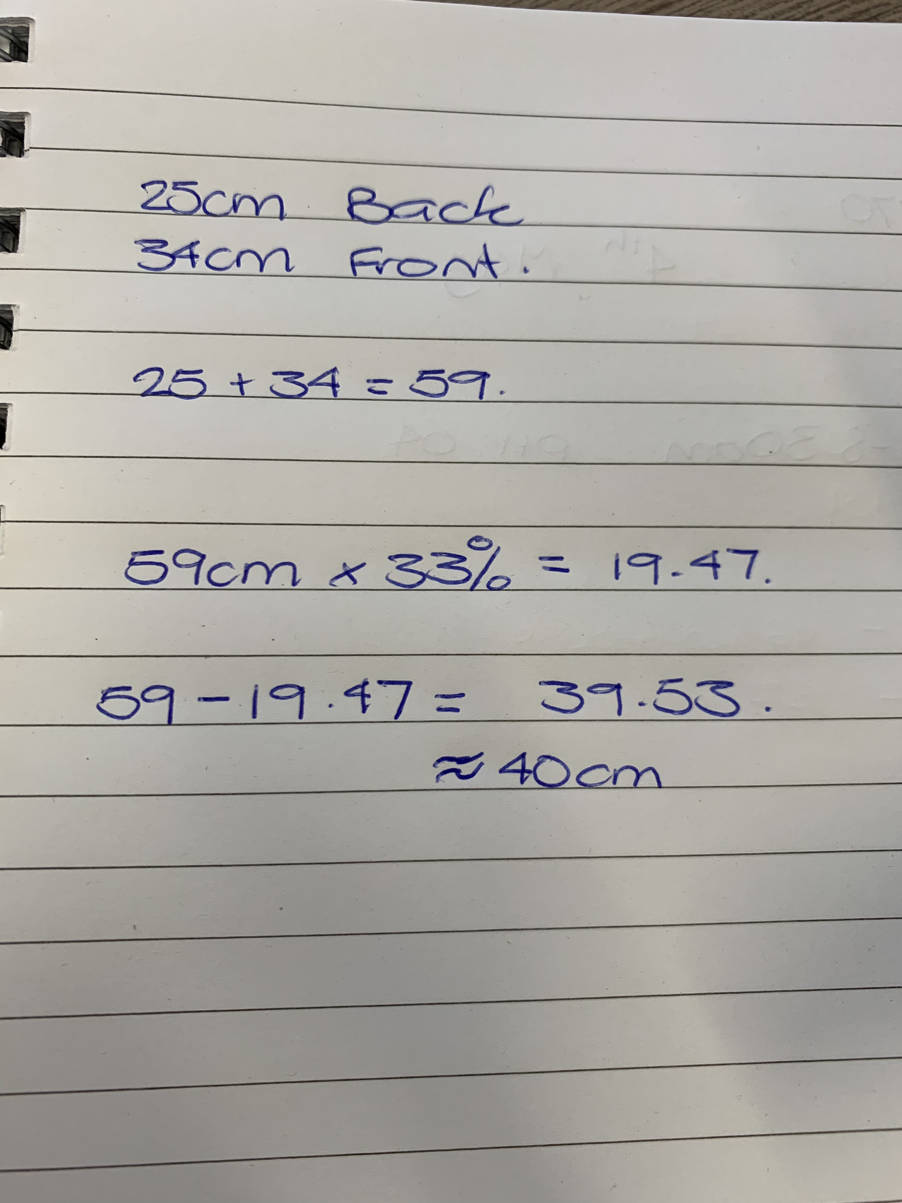 Maths for sewing