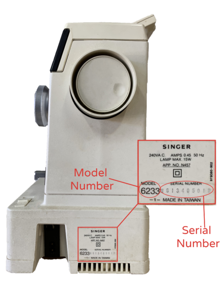 Serial and Model Number