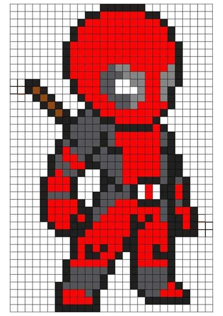 deadpool quilt diagram